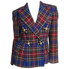 Moschino Plaid Faucet Jacket