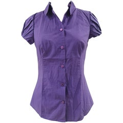 Moschino purple cotton shirt