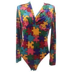 Moschino puzzle velvet body