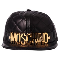 Moschino Quilted Logo Hat