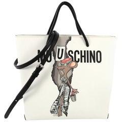 Moschino Rat-a-Porter Tote Printed PVC
