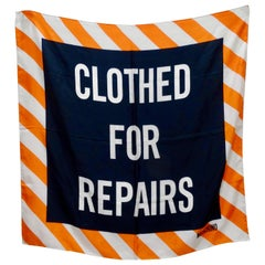 "Moschino S/S 2016 ""Clothed For Repairs"" Scarf"
