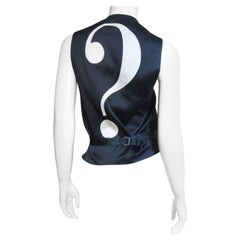 Moschino Silk Question Mark Vest