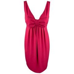 MOSCHINO Size 8 Fuchsia Polyester Empire Waist Cocktail Dress