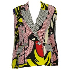 Moschino Spring/Summer 1991 Iconic Pop Art Roy Lichtenstein Print Blazer