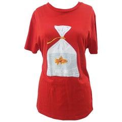 Moschino Swim red cotton t-shirt