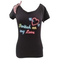 Moschino Switch on my love t-shirt