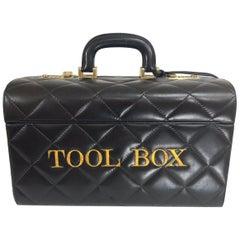 Moschino Tool Box Very Rare Train Case Red Wall 1980s