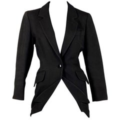 MOSCHINO Upside Down Collar Passementerie Pompom Question Mark Blazer Jacket