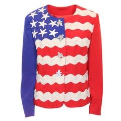 Moschino USA Flag Iconic Jacket IT 44
