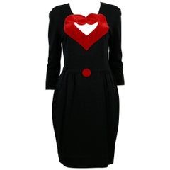 Moschino Vintage Heart Dress US Size 8
