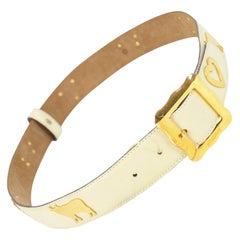 Moschino Vintage Leather Belt