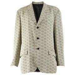 Moschino Vintage Mens Spellout Blazer Jacket