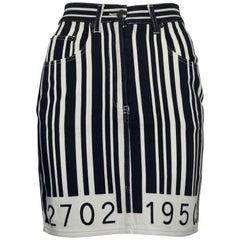 MOSCHINO Vintage MOSCHINO Barcode Novelty Skirt Skirt