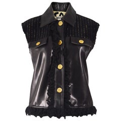 Moschino Vintage Vegan Faux Leather Biker Vest