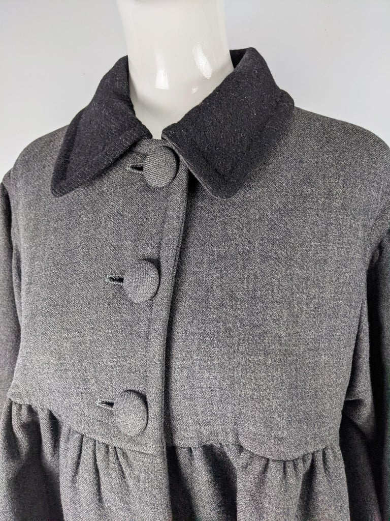 Gray Moschino Vintage Wool Coat For Sale