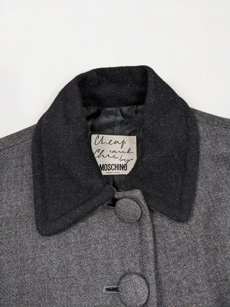 Moschino Vintage Wool Coat For Sale 2