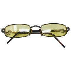 Moschino Vintage Yellow Gold Prescription Glasses