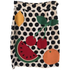 Moschino watermelon collection cotton skirt