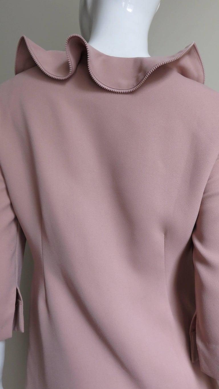 Moschino Zipper Edged Ruffle Dress For Sale 4