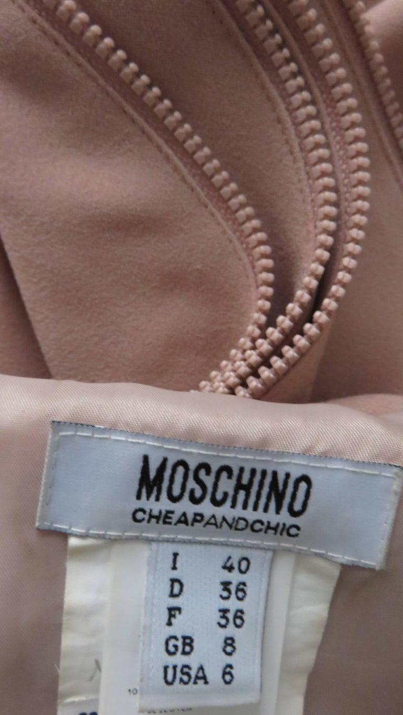 Moschino Zipper Edged Ruffle Dress For Sale 6