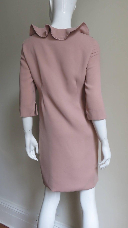 Moschino Zipper Edged Ruffle Dress For Sale 3
