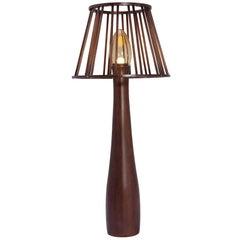 Moscou Brazilian Contemporary Wood Big Floor Lamp by Lattoog