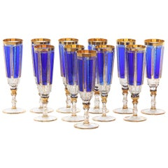 Moser Crystal Flute Tableware Service for Eleven