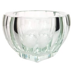 Moser Crystal Purity Clear Glass Bowl, Early 20th Century