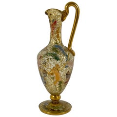 Moser Enameled Miniature Glass Ewer, circa 1890