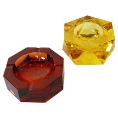 Moser Glass Art Deco Astrays