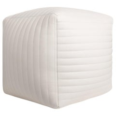 Banded Cube Ottoman, Mosel Nadel