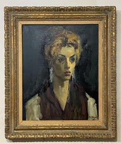 Moses Soyer, American 1899-1974 Portrait of a Woman