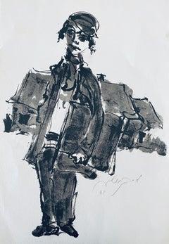 Polish Israeli Artist Expressionist Hand Signed Lithograph