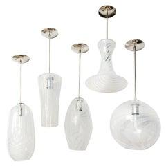 Moshe Bursuker Swirls Glass Pendants, 2018