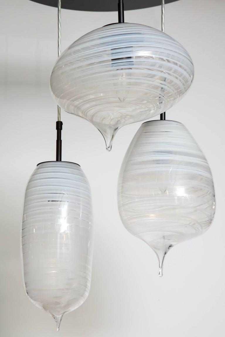Contemporary American artist Moshe Bursuker's set of three