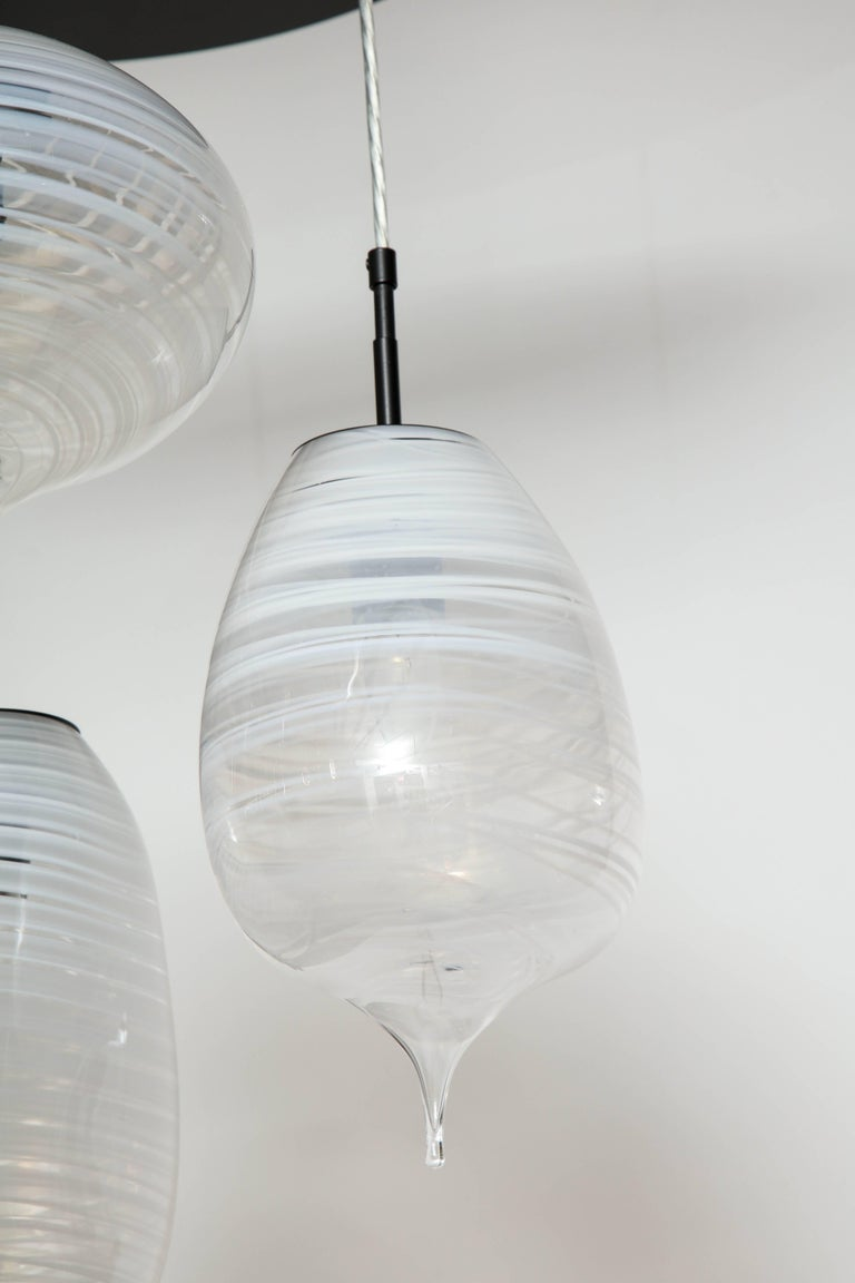Mid-Century Modern Moshe Bursuker Thought Bubbles Glass Chandelier, 2018 For Sale