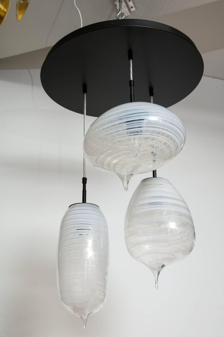 Moshe Bursuker Thought Bubbles Glass Chandelier, 2018 In Excellent Condition For Sale In New York, NY