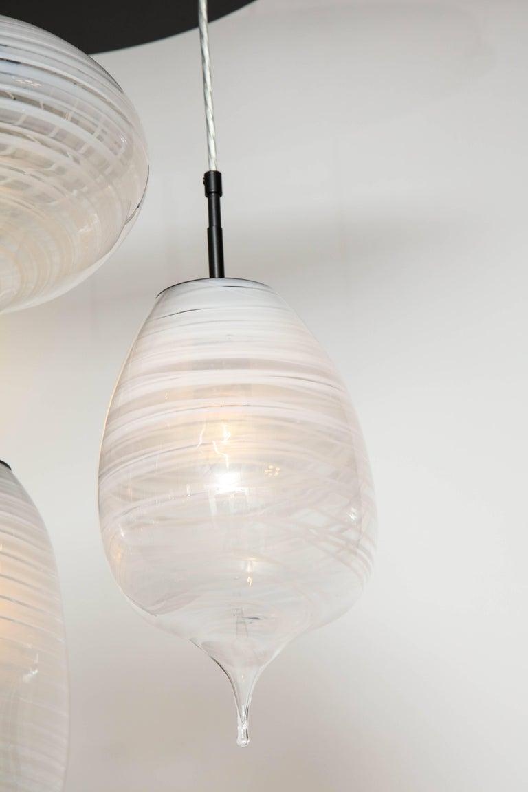 Contemporary Moshe Bursuker Thought Bubbles Glass Chandelier, 2018 For Sale