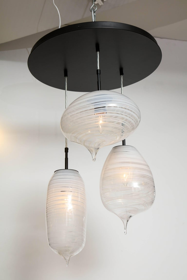 Metal Moshe Bursuker Thought Bubbles Glass Chandelier, 2018 For Sale