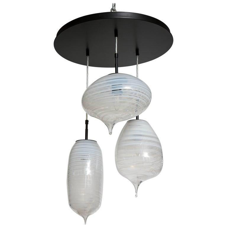 Moshe Bursuker Thought Bubbles Glass Chandelier, 2018 For Sale