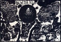 Israeli Modernist Bezalel Artist Gershuni Signed Lithograph - Praises & Thanks