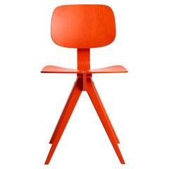 Mosquito Chair in Vermillion Red Oak, Design by Niko Kralj in 1953, Rex Kralj
