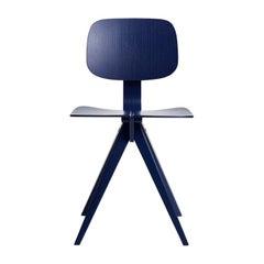 Mosquito Dining Chair in Cobalt Blue Designed by Niko Kralj in 1953, Rex Kralj