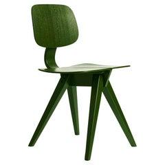 Mosquito Dining Chair in Leaf Green Oak, Design by Niko Kralj in 1953, Rex Kralj