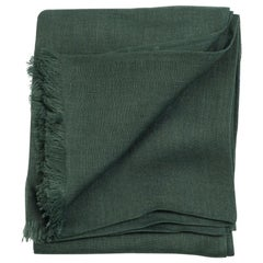 Moss Solid Linen Scarf / Wrap / Shawl