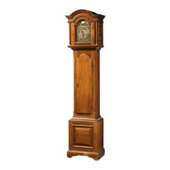 Most Attractive Early 20th Century Walnut Grandmother Clock