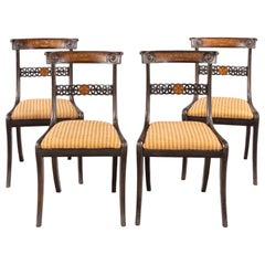 Most Attractive Set of 4 Regency Period Chairs