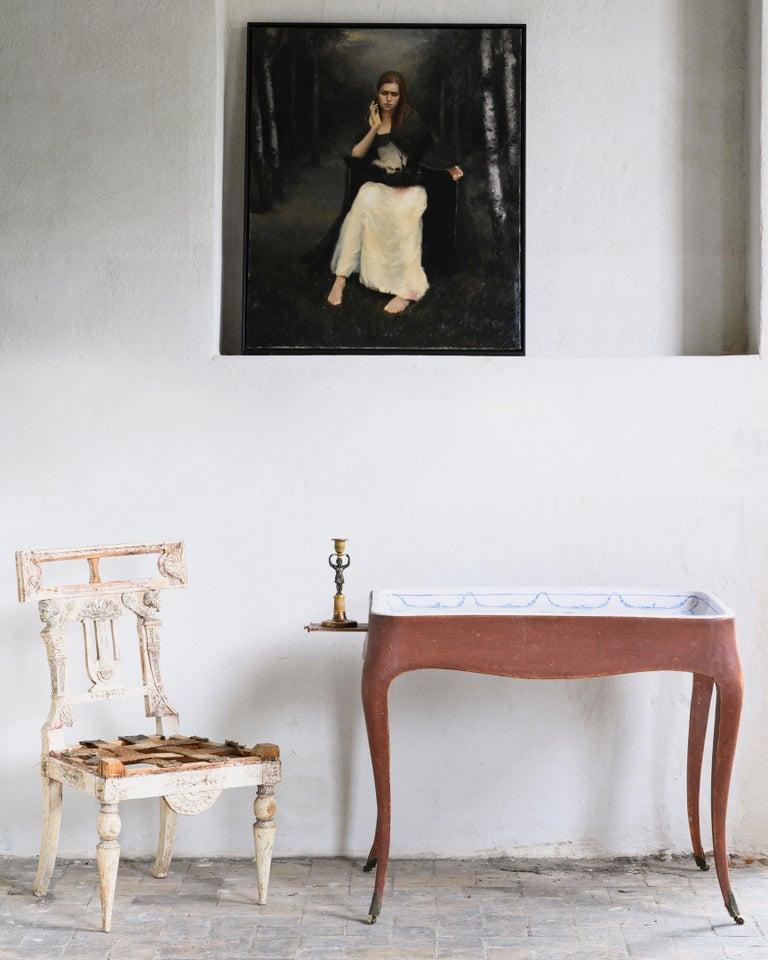 Most Unusual 18th Century Swedish Rococo Tea Table For Sale 4