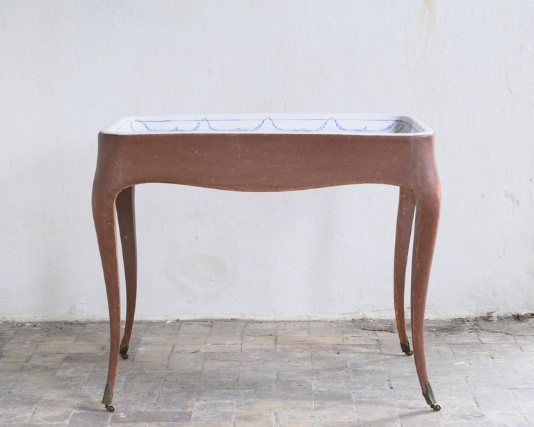 Most Unusual 18th Century Swedish Rococo Tea Table For Sale 6